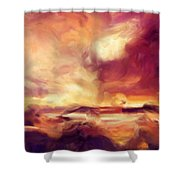 Sky Fire Abstract Realism Shower Curtain