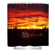 Sky Fire Shower Curtain