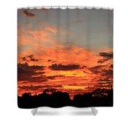 Sky Flames Shower Curtain