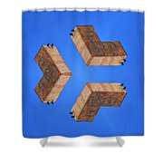 Sky Fortress Progression 2 Shower Curtain