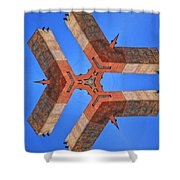 Sky Fortress Progression 8 Shower Curtain