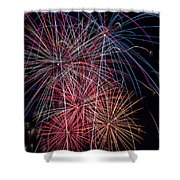 Sky Full Of Fireworks Shower Curtain
