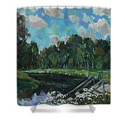 Sky In The River Shower Curtain