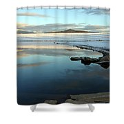Sky Lake Shower Curtain