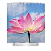 Sky Lotus Shower Curtain