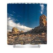 Sky Masters - Trona Pinnacles Shower Curtain