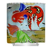 Sky Mermaid Shower Curtain