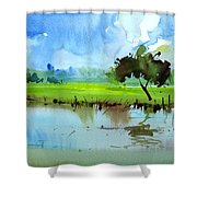 Sky N Farmland Shower Curtain