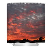 Sky Of Fire Shower Curtain