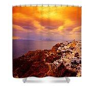 Sky On Fire Shower Curtain