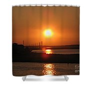 Sky On Fire Over Chincoteague Island Shower Curtain