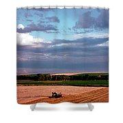 Sky Over Harvest Shower Curtain