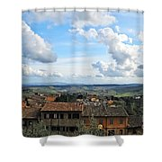 Sky Over Tuscany Shower Curtain