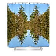 Sky Pines II Shower Curtain