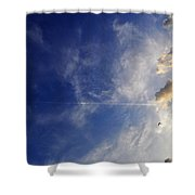 Sky Plane Bird From The Series The Imprint Of Man In Nature Shower Curtain