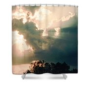 Cowboy Sky Rider On A Horse Shower Curtain