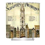 Sky Scrapers Of Philadelphia 1896 Shower Curtain