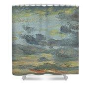 Sky Study, Sunset, 1821-22 Shower Curtain