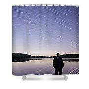 Sky Trails Shower Curtain