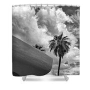 Sky-ward Palm Springs Shower Curtain by William Dey