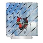 Sky Washer Shower Curtain