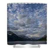 Sky Water Mountains Shower Curtain