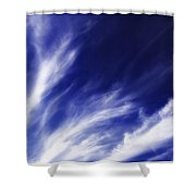 Sky Wisps Blue Shower Curtain