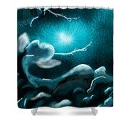 Sky With Romantic Rainy Cloud Shower Curtain