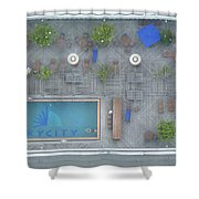 Skycity Pool Shower Curtain