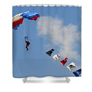 Skydivers #02 Shower Curtain