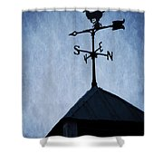 Skyfall Deer Weathervane  Shower Curtain by Edward Fielding