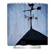 Skyfall Deer Weathervane  Shower Curtain by Edward Fielding