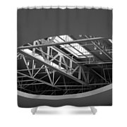 Skylight Gurders In Black And White Shower Curtain