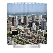 Skyline Aerial Of Columbus Shower Curtain
