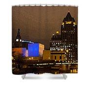 Skyline At The Milwaukee River Shower Curtain