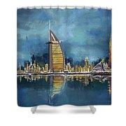 Skyline Burj-ul-khalifa  Shower Curtain