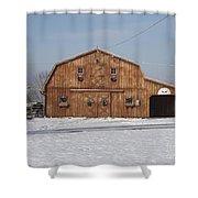 Skyline Farm Horse Barn Shower Curtain
