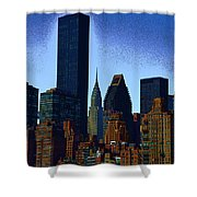 Skyline From Roosevelt Island Shower Curtain