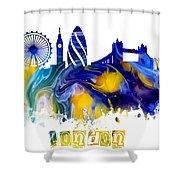 Skyline London England  Shower Curtain