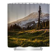 Skyline Meadows Sunstar Shower Curtain