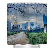 Skyline Of A Big City In South - Charlotte Nc Shower Curtain