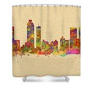 skyline of Atlanta Georgia Shower Curtain