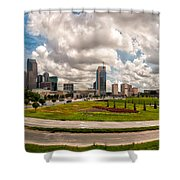 Skyline Of Charlotte Towers Shower Curtain
