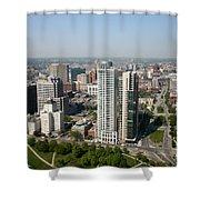 Skyline Of Milwaukee Wisconsin Shower Curtain