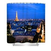 Skyline Of Paris Shower Curtain