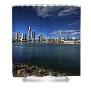 Skyline Of Surfers Paradise Shower Curtain