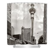 Sky Tower's Queen St Couple.nz Shower Curtain