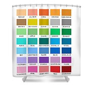 Skyline Series Color Chart Shower Curtain