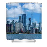 Skylines At The Waterfront, Miami Shower Curtain