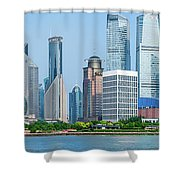 Skylines At The Waterfront, Oriental Shower Curtain